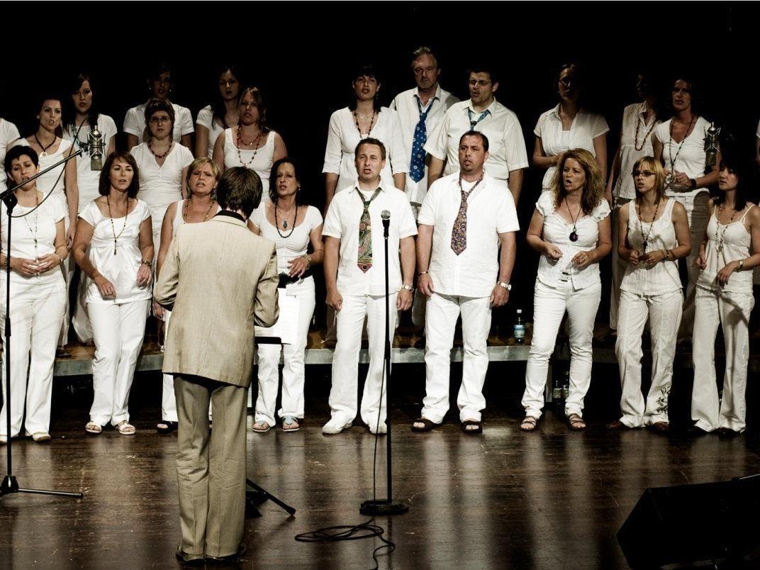 Gospelchor SingRing bei einem Konzertauftritt im Reichshofsaal Lustenau