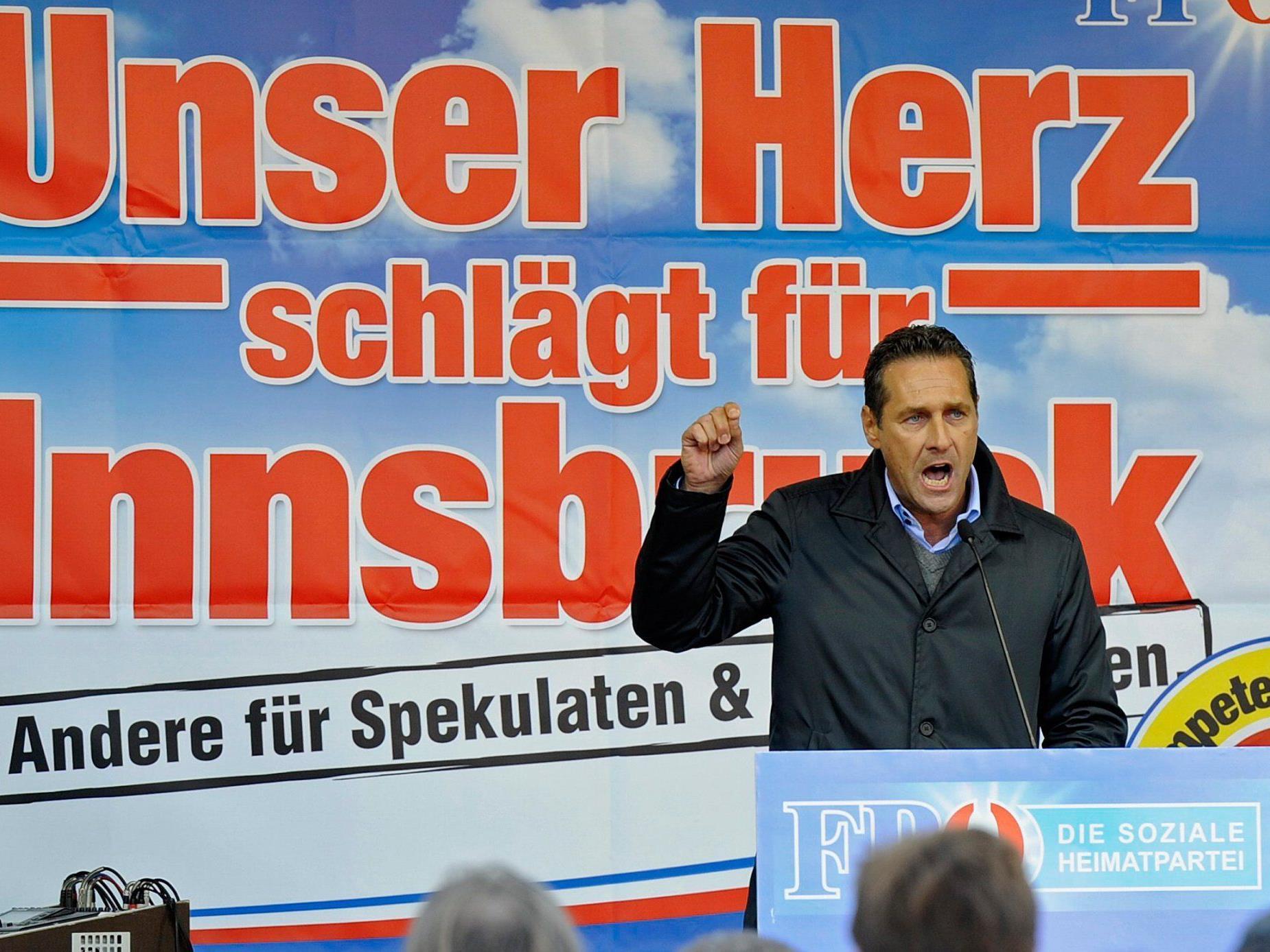 """Rechtschreibteufel: Strache schützt vor """"Spekulaten""""."""