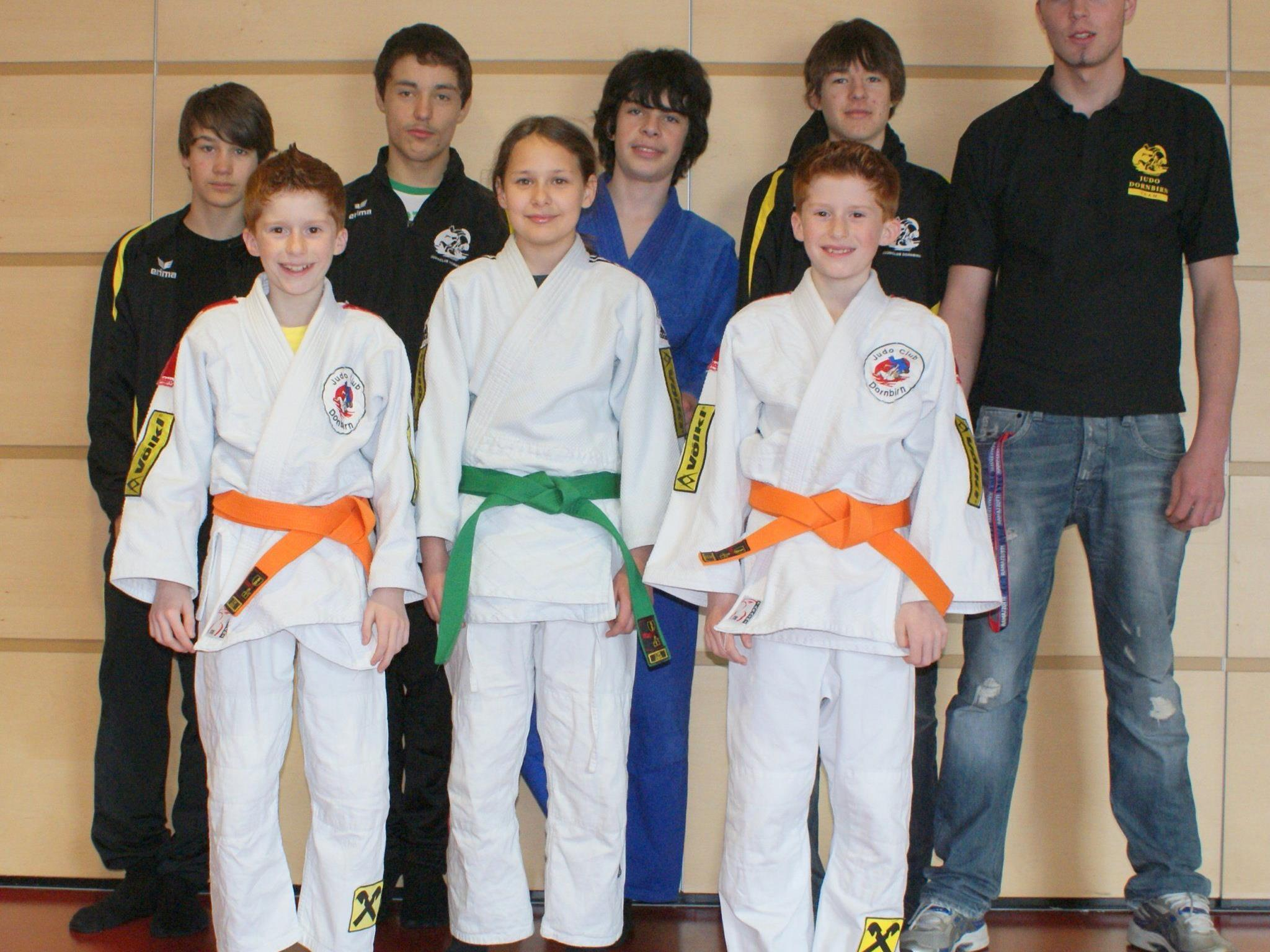 Das Judoka-Team aus Dornbirn gewann drei Medaillen.