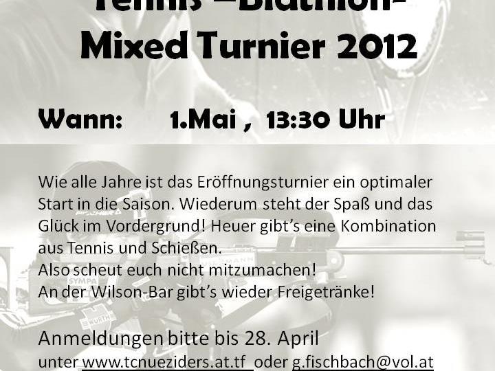 Tennis -Biathlon-Jux Turnier 2012