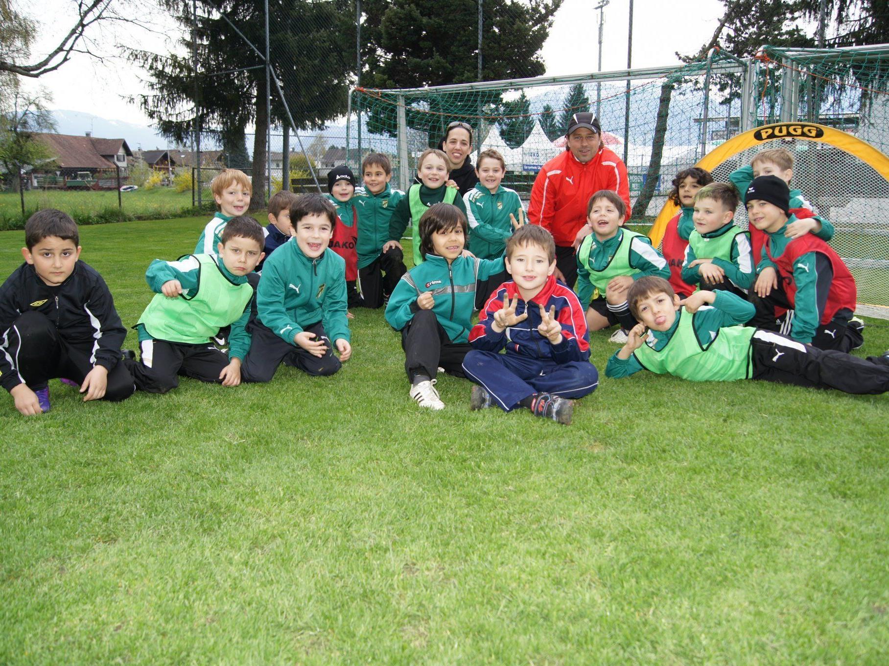 Die U7-Mannschaft der Austria beim Training.