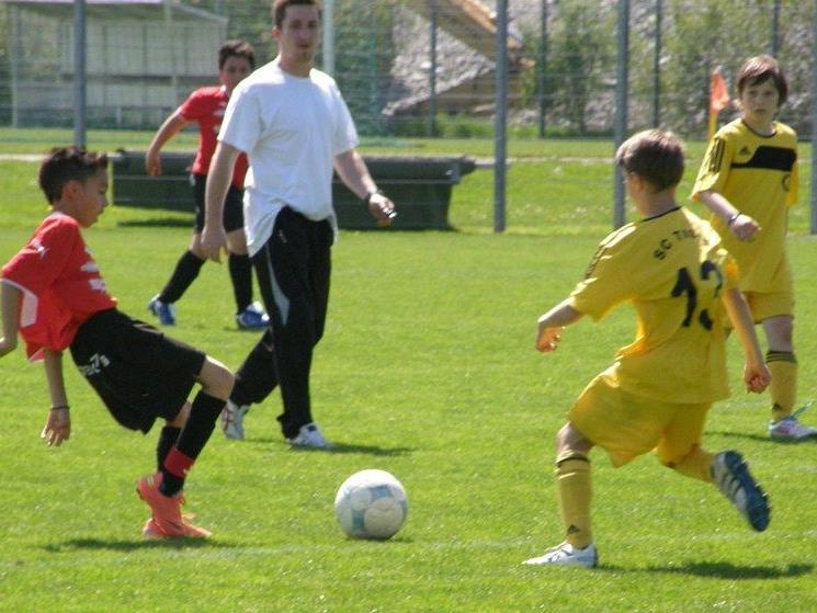 Die U12-Viktorianer (in rot) waren gegen Tisis chancenlos.