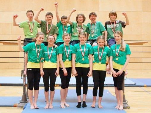 Die Gruppen aus Zwischenwasser (hi.) und Dornbirn qualifizierten sich für das Bundesfinale