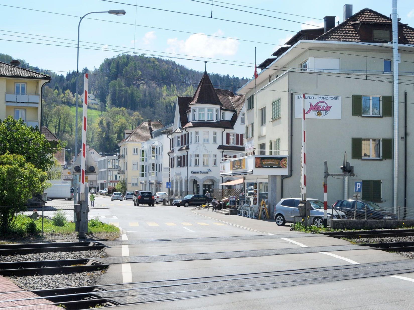 Auch die Grenzstraße St. Margrethen wird ab dem Bahnübergang neu gestaltet.