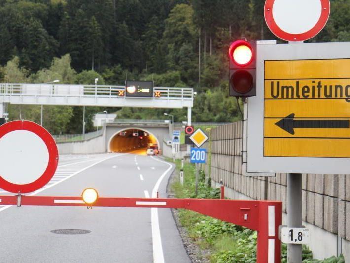 Zeitlich befristete Sperren der Tunnelröhre erforderlich