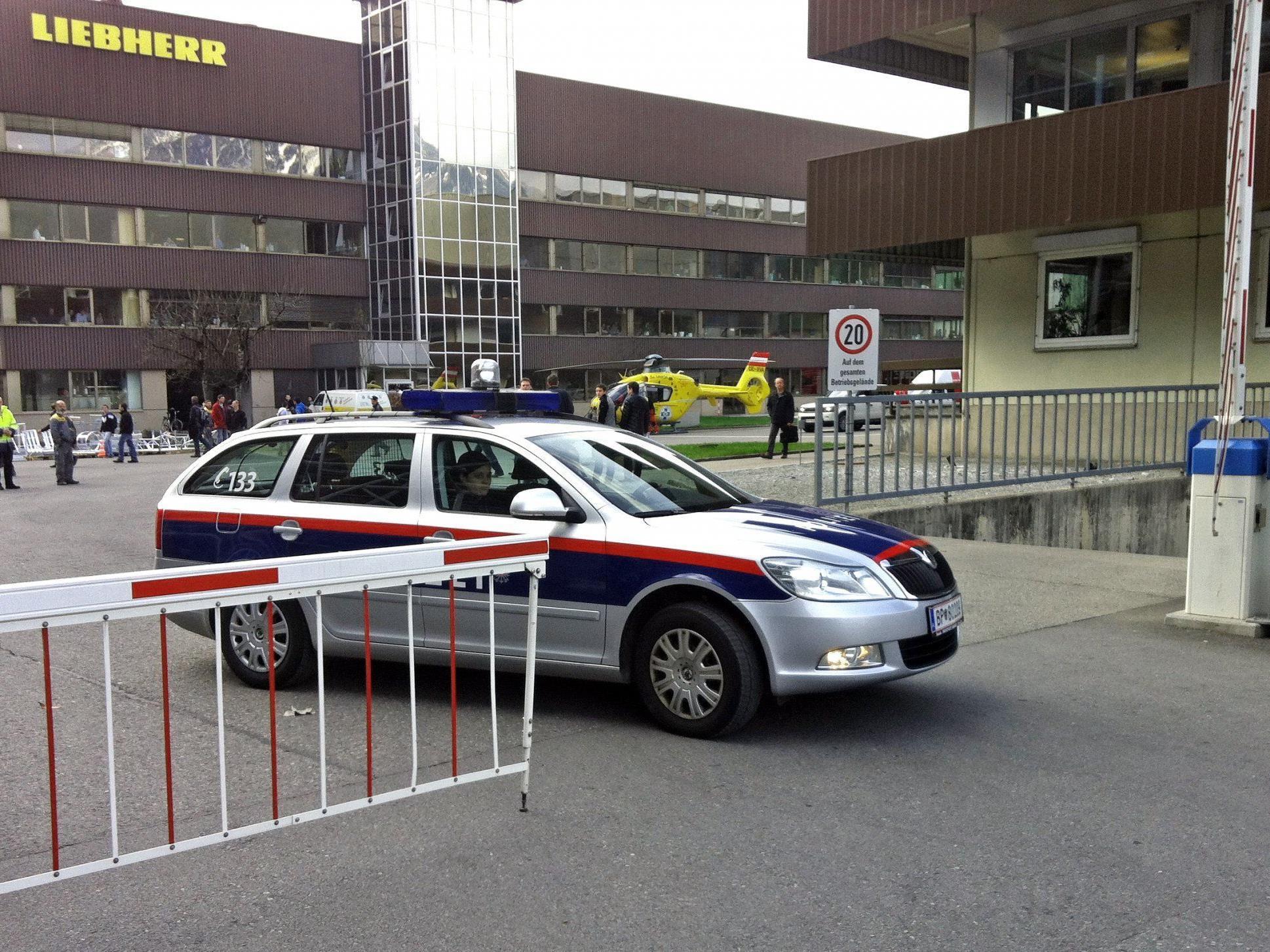 Explosion bei Liebherr in Nenzing.