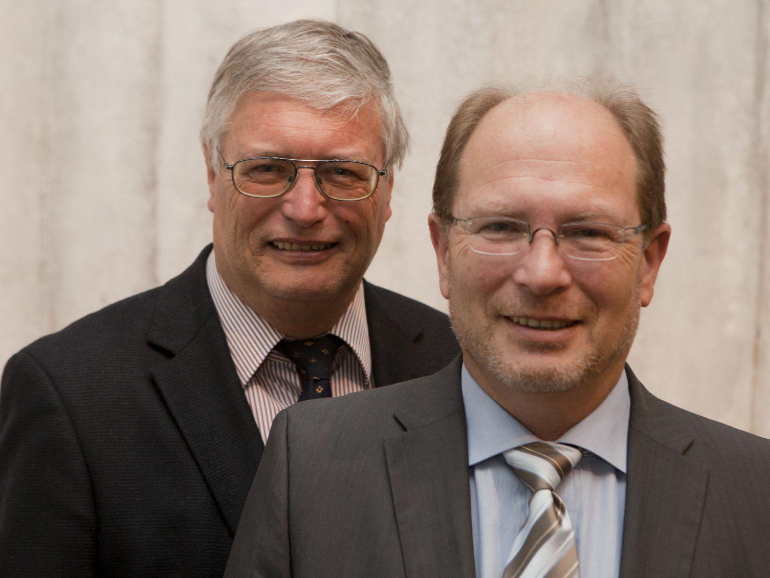 Herbert (l.) und Gerhard Blum sorgen sich um den Standort Vorarlberg.