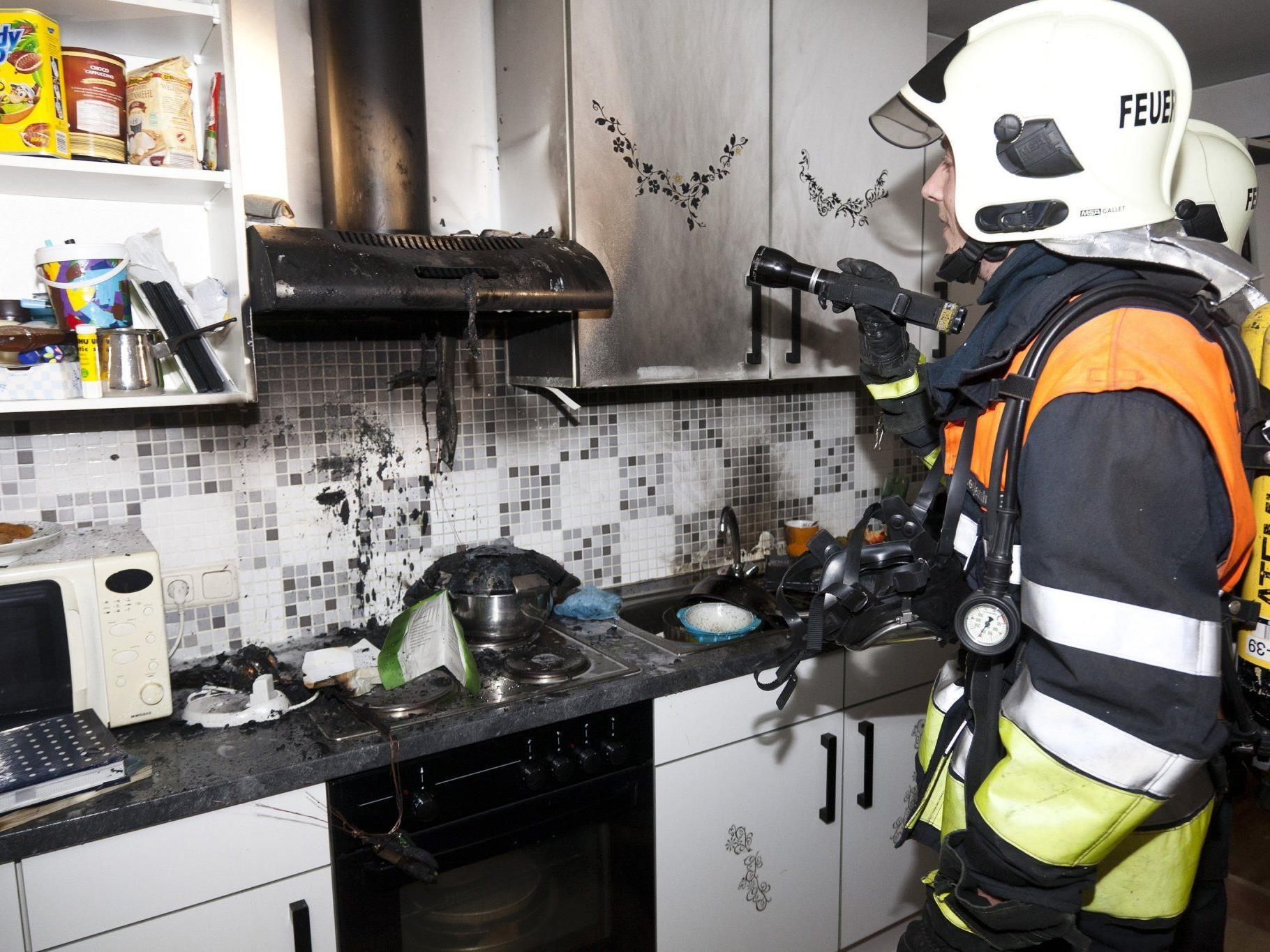 Kochtopf geriet in Brand