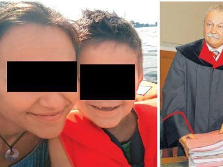 Aleksandra N. mit ihrem älteren Sohn. Die Staatsanwaltschaft hat nun Klage gegen sie eingebracht (im Bild rechts: der leitende Staatsanwalt Wilfried Siegele beim Prozess gegen Milosav M. vergangene Woche).