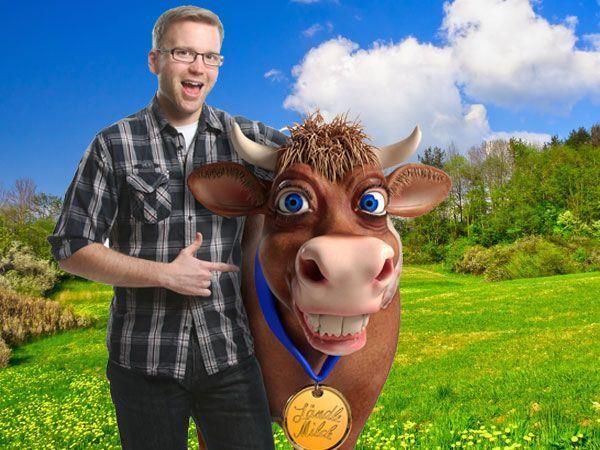 Melken und gewinnen: Die Antenne Vorarlberg – Ländle Cash-Kuh.
