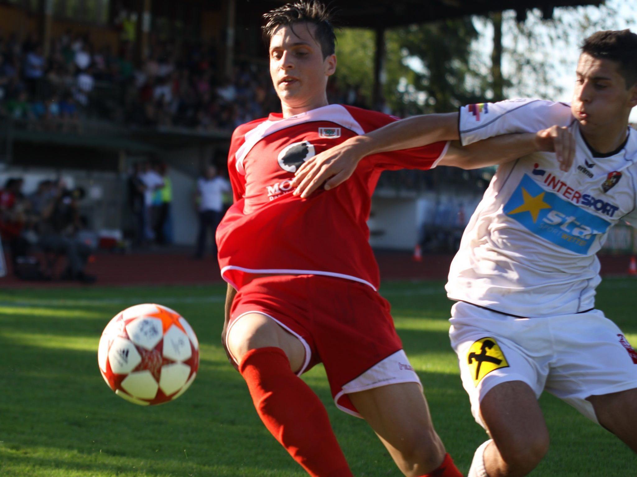 FC Dornbirn gastiert schon am Freitag beim Letzten Hall in Tirol.