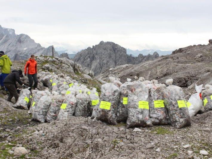 """Alpenschutzverein-Aktion """"Saubere Alpen"""" im Montafon"""