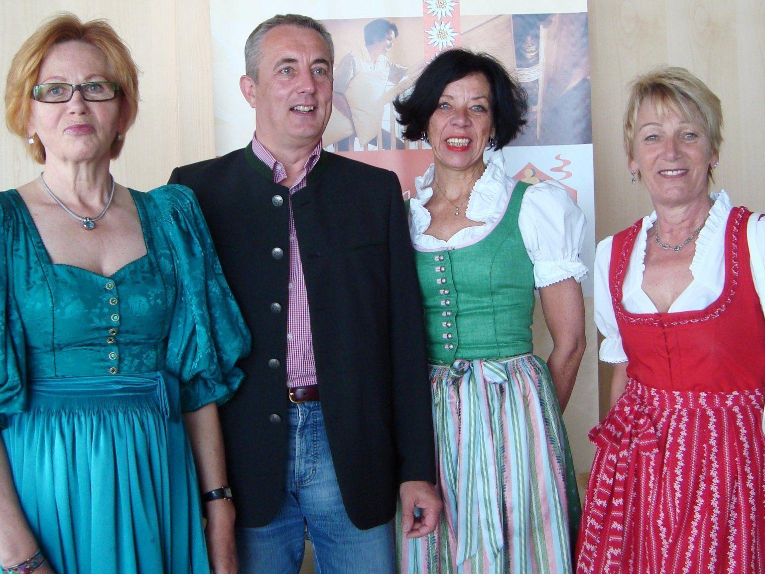 Isabella Bischofberger, Thomas Schanzer, Anna Troy und Margreth Rüf