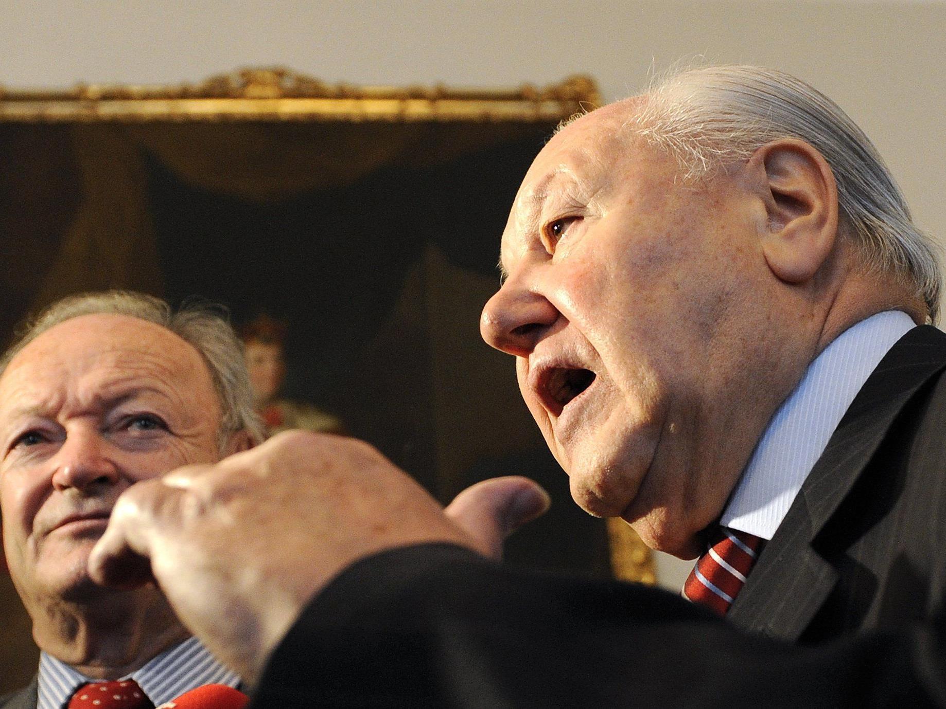 Seniorenvetreter Andras Khol (l.) und Karl Blecha.