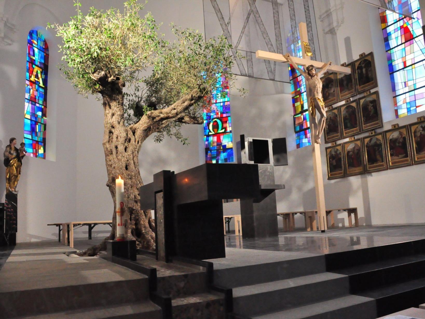 Altar in der Kirche in Lingenau