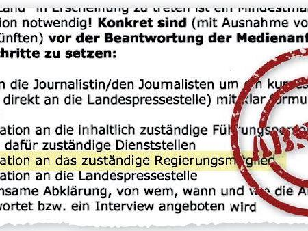 Das E-Mail von Landesamtsdirektor Günther Eberle sorft für harsche Kritik.