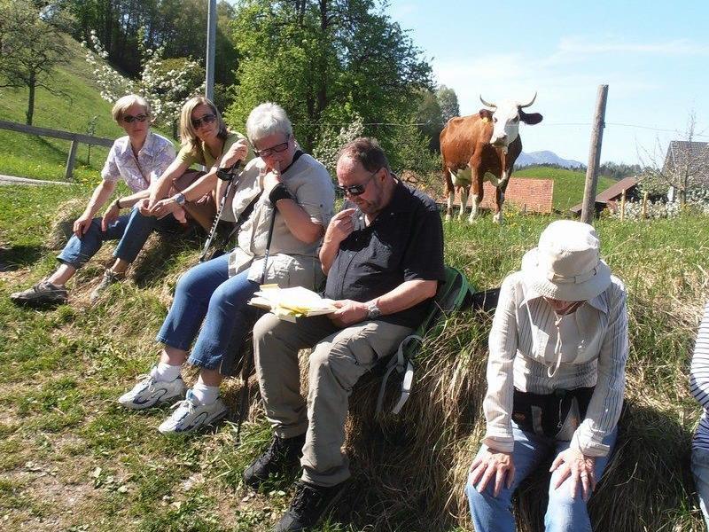 Gerne lauschten die zahlreichen Besucher den Geschichten von Elmar Bereuter
