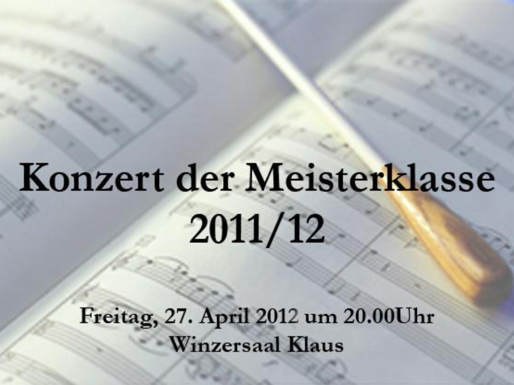 Konzert der Meisterklasse im Klauser Winzersaal