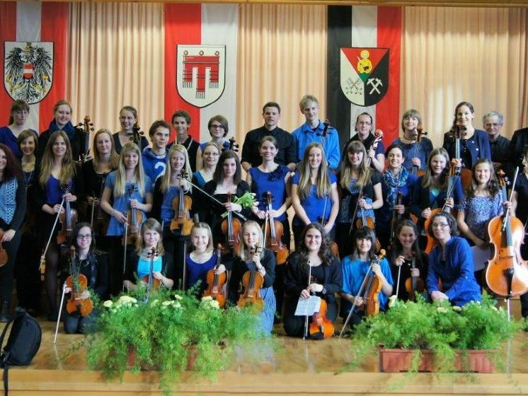Das Jugendstreichorchester der Musikschule Montafon begeisterte die Zuhörer.