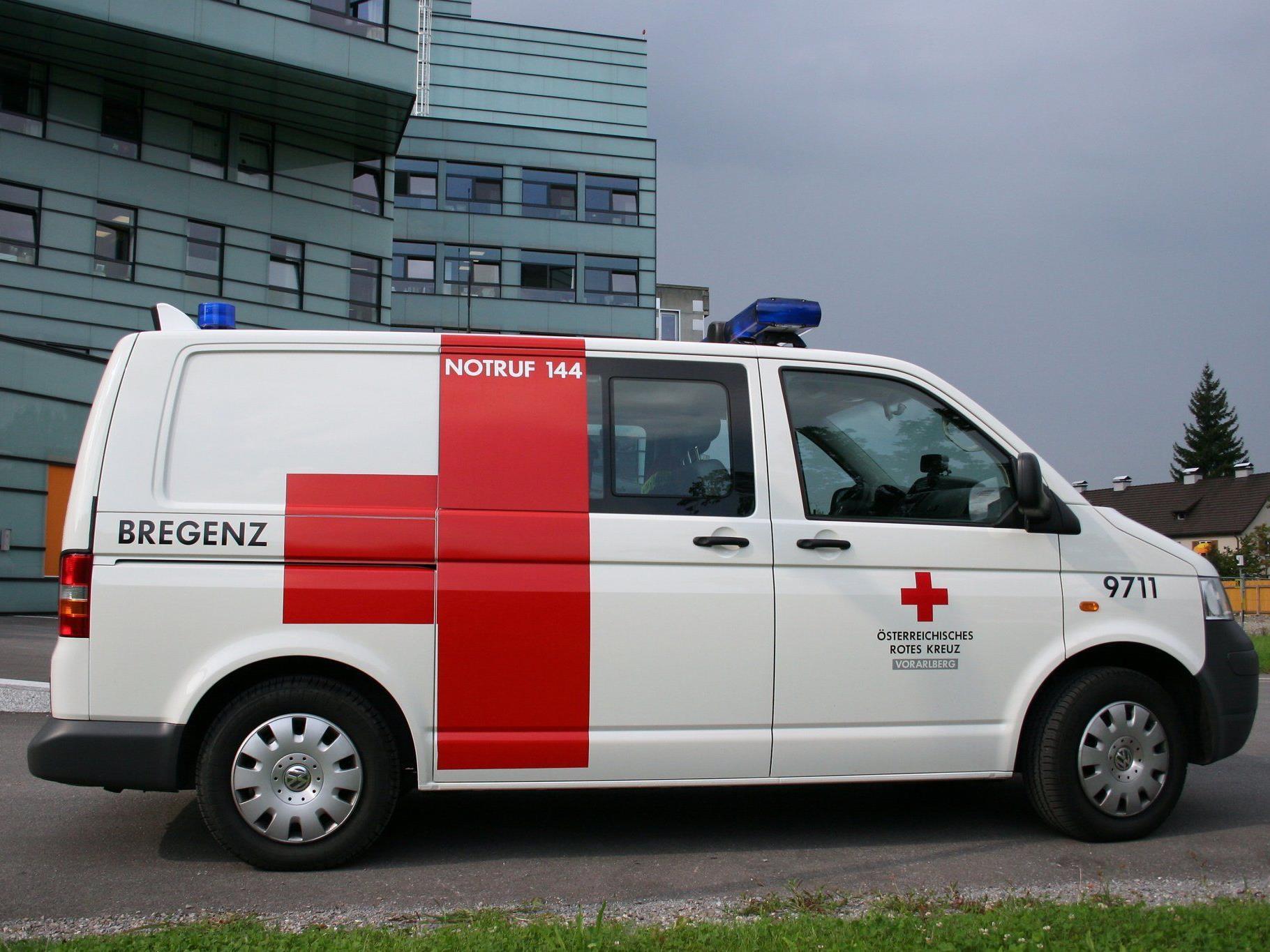 19-Jähriger mit Verbrühungen ins LKH Bregenz gebracht.