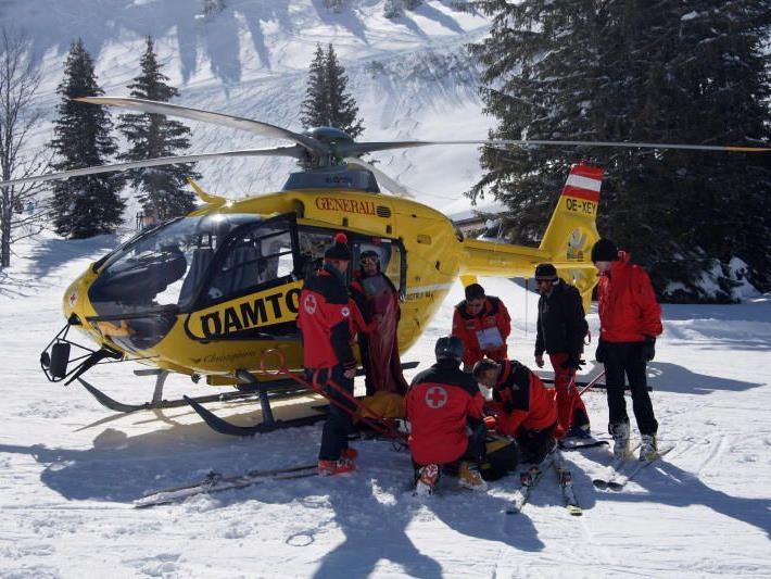 Junger Skifahrer schwer verletzt (Symbolbild)