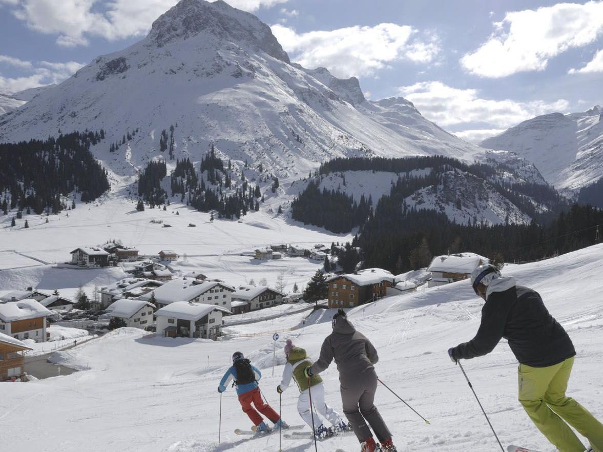 Skilaufen in Lech macht Spaß.