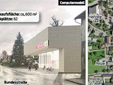 Pläne für neuen Spar-Einkaufsmarkt an der Lauteracher Bundesstraße