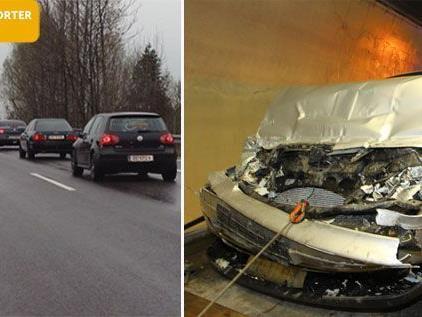 Unfall verursachte langen Stau auf der A14