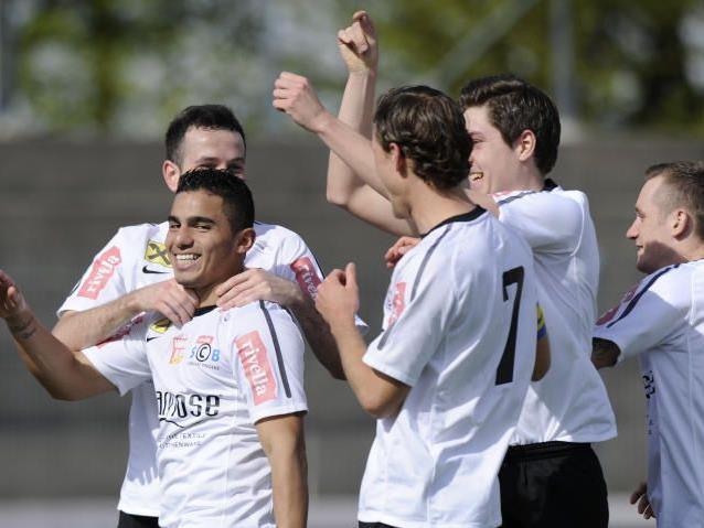 Rivella SC Bregenz jubelt mit Doppelpack Vinicius Gomes Maciel.