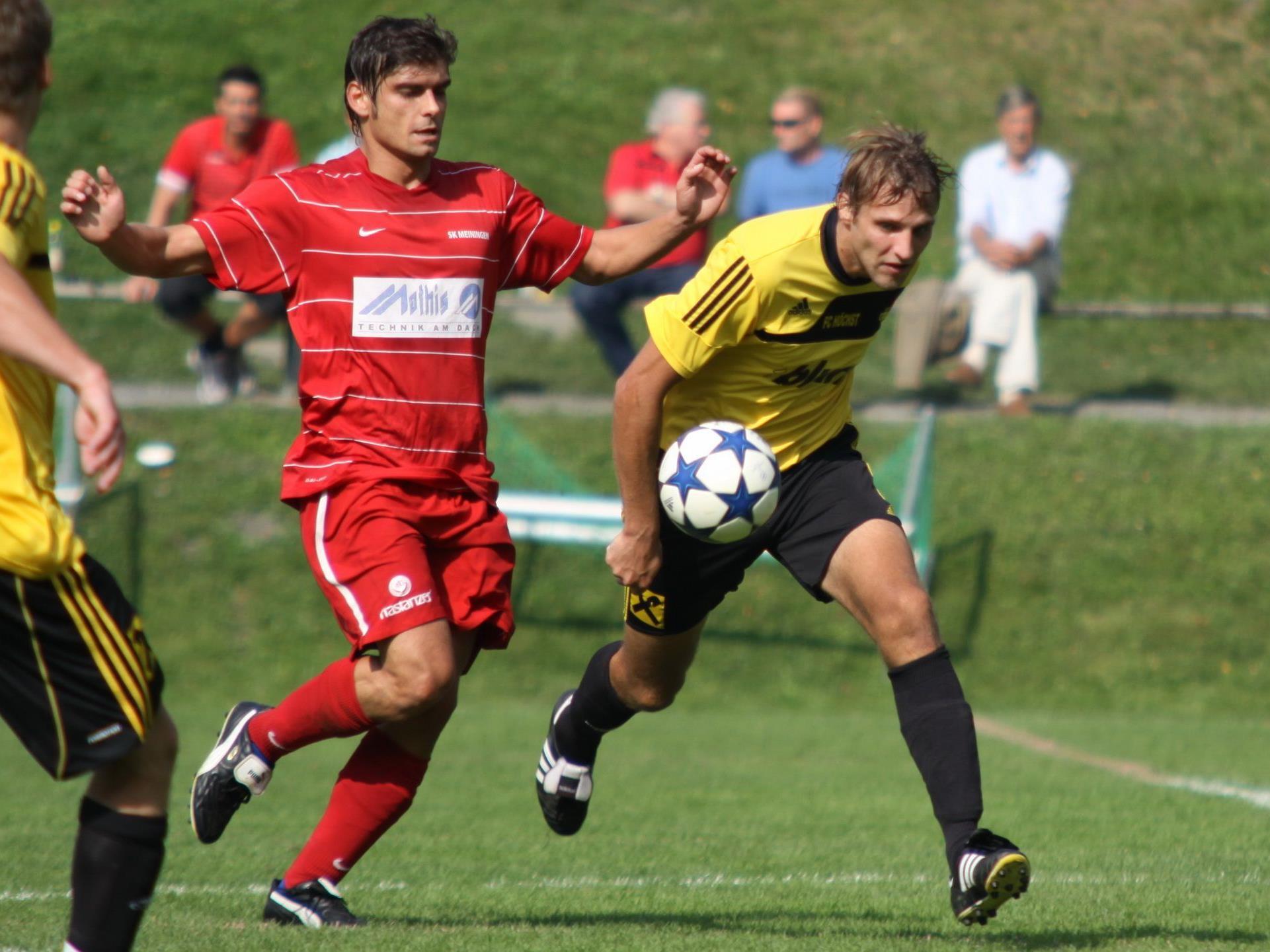 Meiningen Goalgetter Patrick Fleisch schoss heuer schon 13 Tore für den Oberländer Klub.