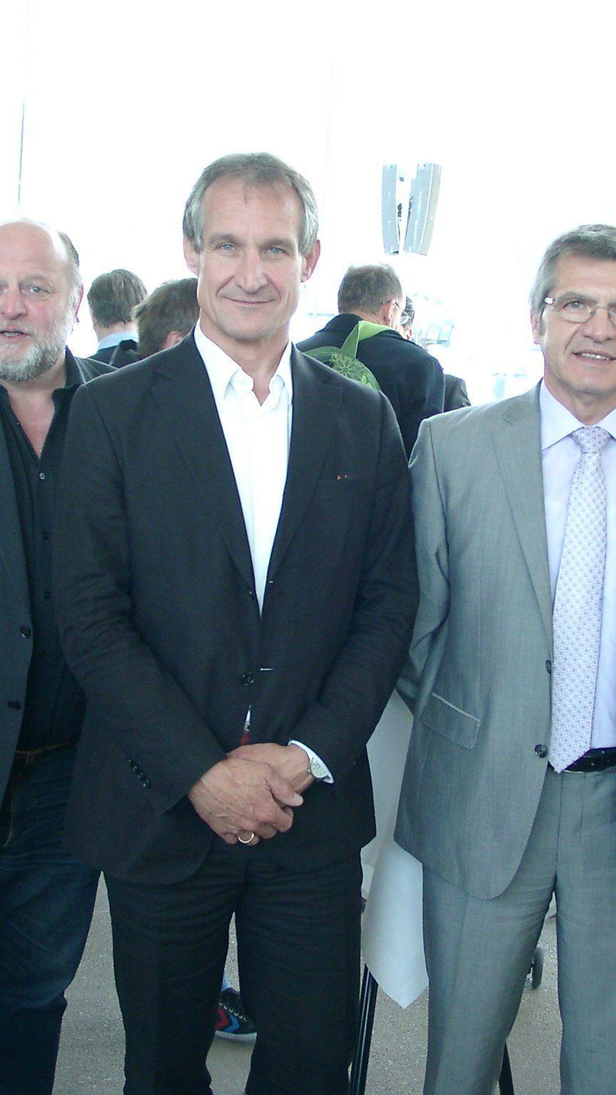 Viel Prominenz bei der Auslosung zur U-18-Handball Europameisterschaft in Bregenz.