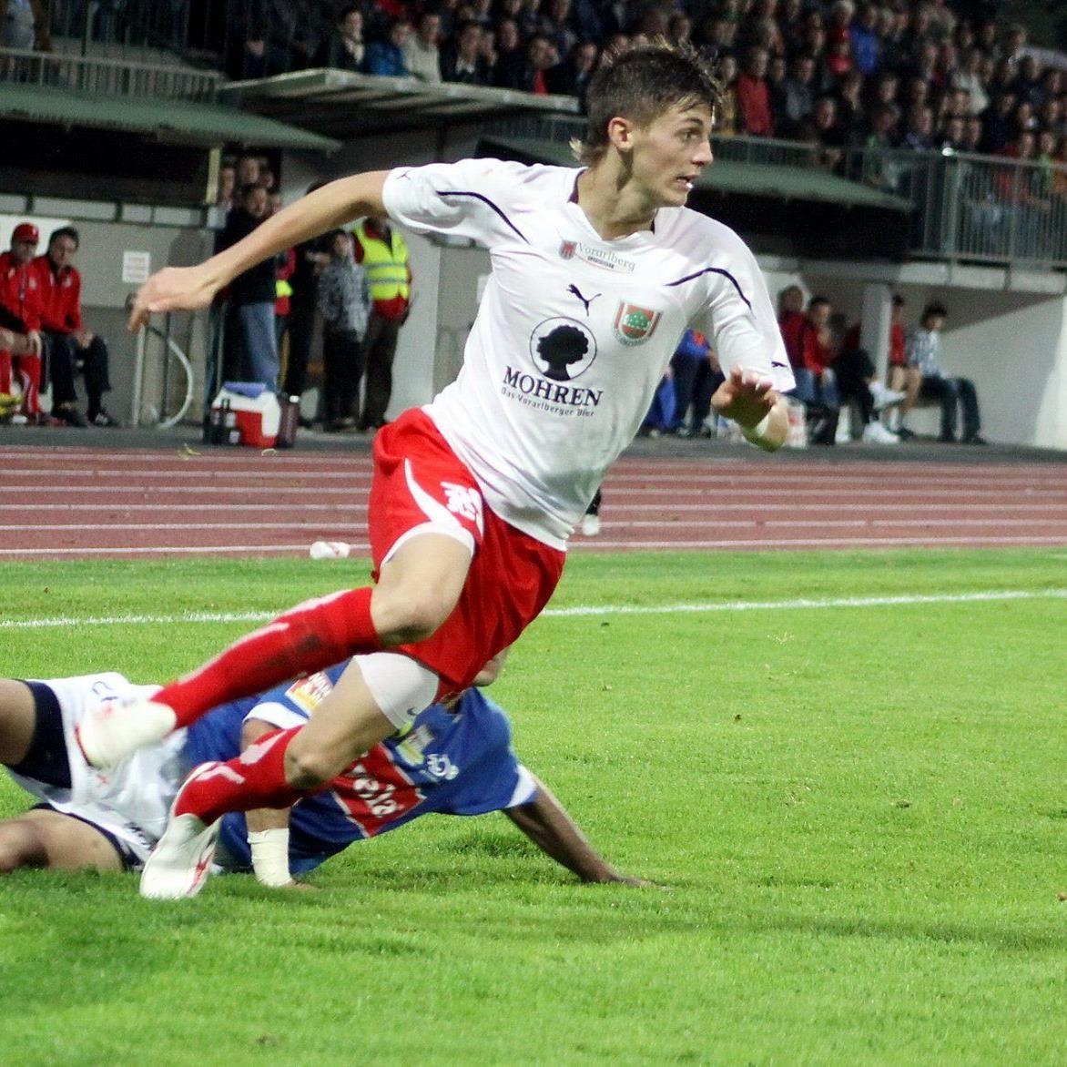 Daniel Krenn spielt als Jungprofi bei RB Salzburg und glänzt mit Toren und Spielwitz.