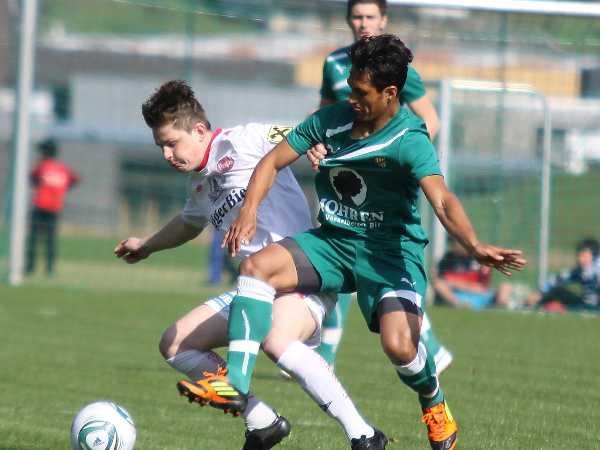 Sidinei de Oliveira sieht Vaterfreuden entgegen und erzielte das 3:2 für die Austria Amateure in Egg.