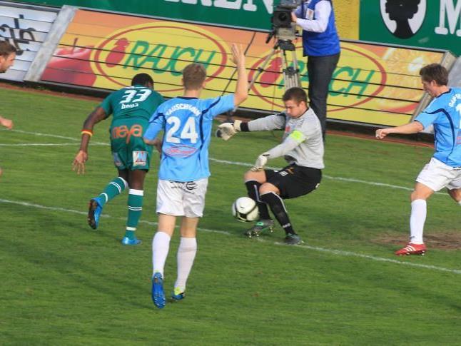 Austria Lustenau gewann gegen Hartberg mit 2:0.