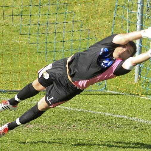 Meiningen-Goalie Dominik Lampert hielt fast alles, aber einmal war er geschlagen.