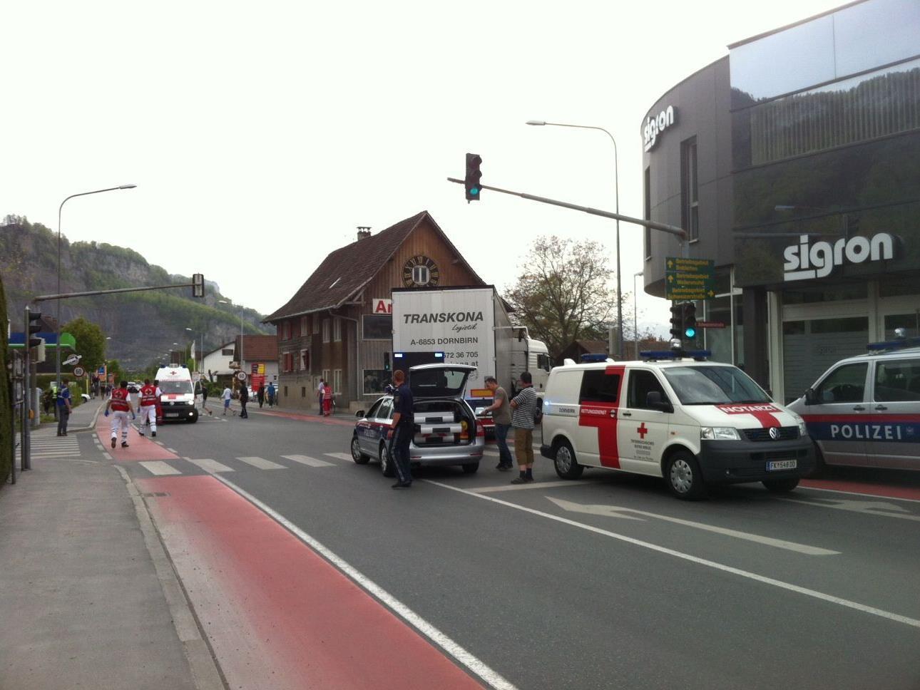 Unfall in Dornbirn Wallenmahd