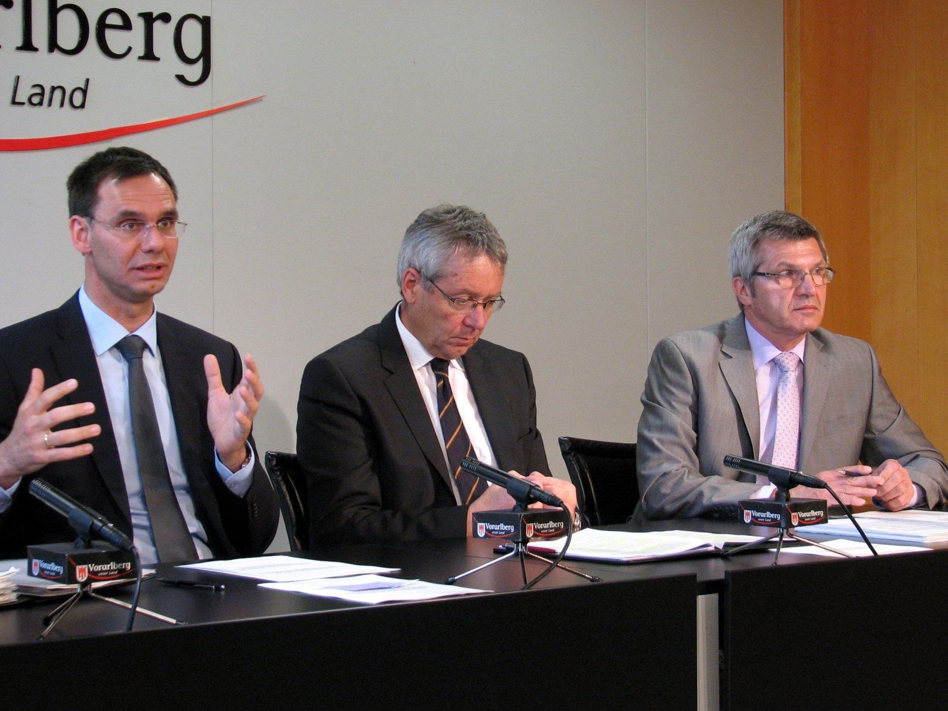 LH Markus Wallner LSth. Karlheinz Rüdisser LR Siegi Stemer.