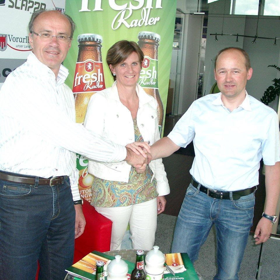 Brauerei Fohrenburger und Team Vorarlberg verlängerten den Vertrag.