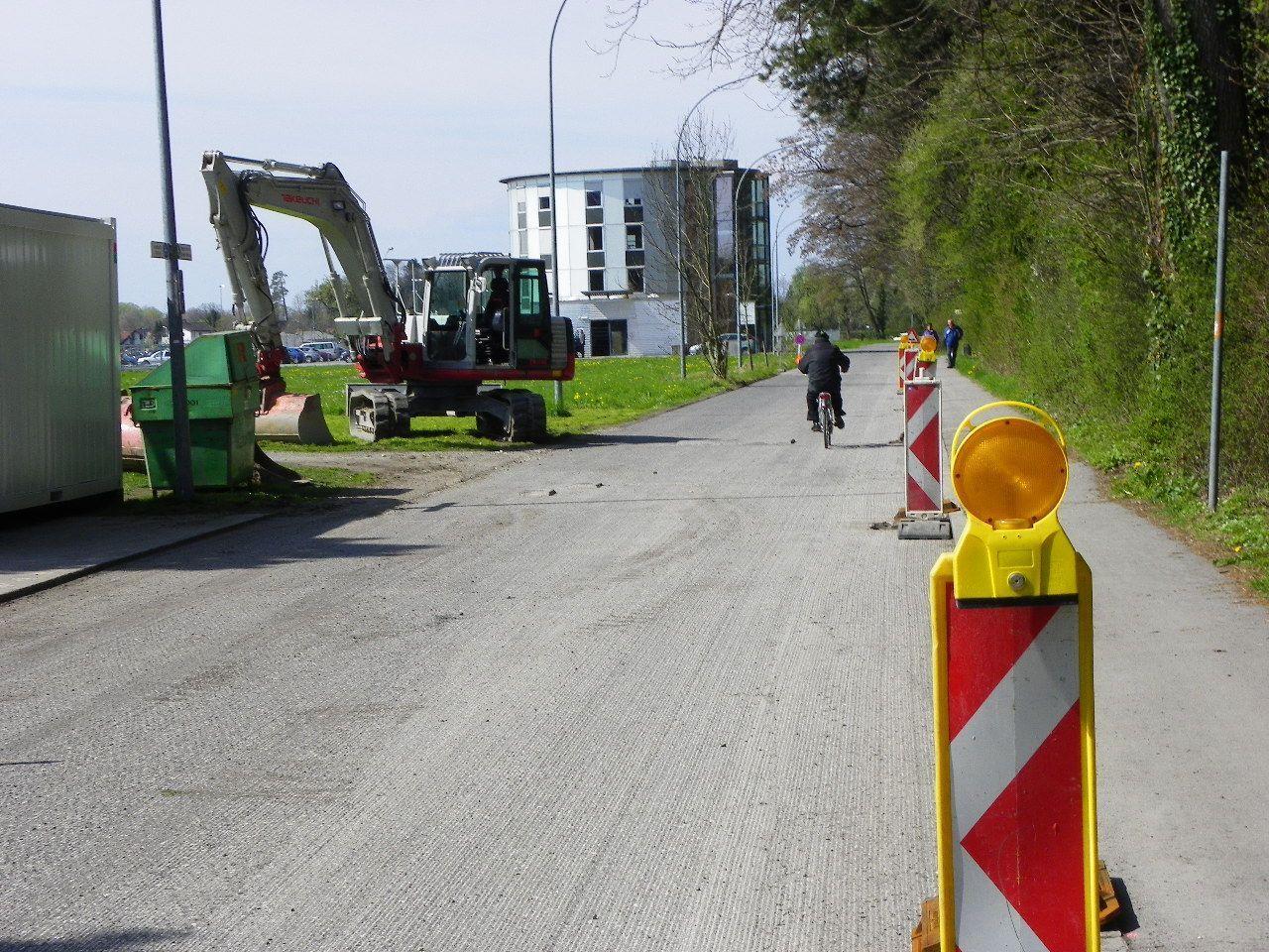 Verkehrsbehinderung durch Straßensanierung