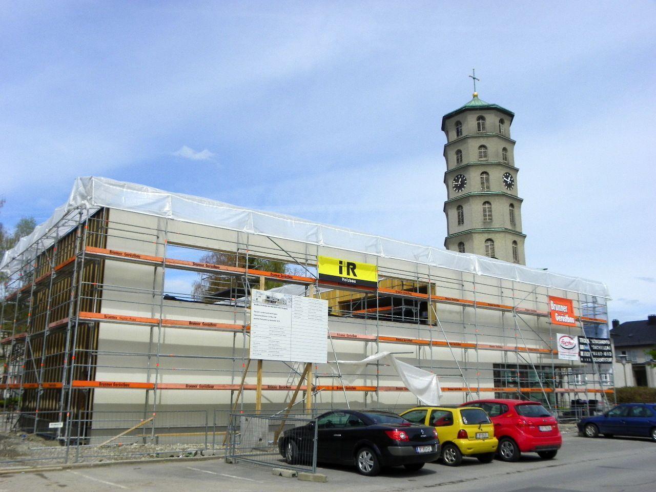 Fassadenarbeiten gehen voran