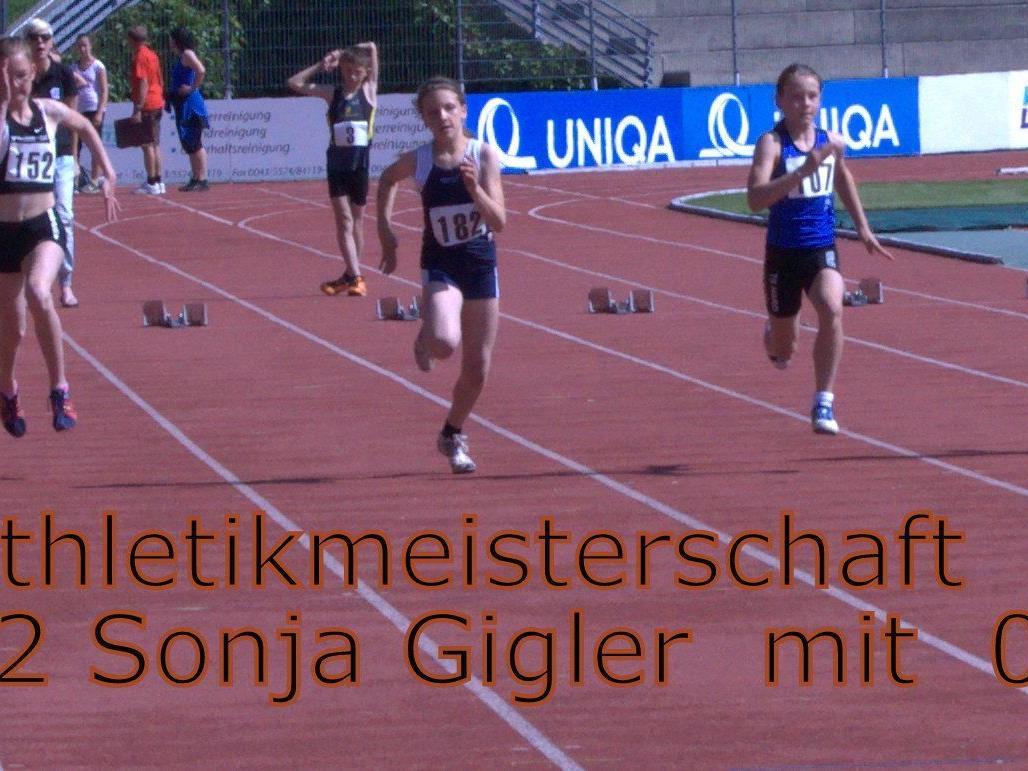 50 m   Sprint  Siegeslauf von Sonja
