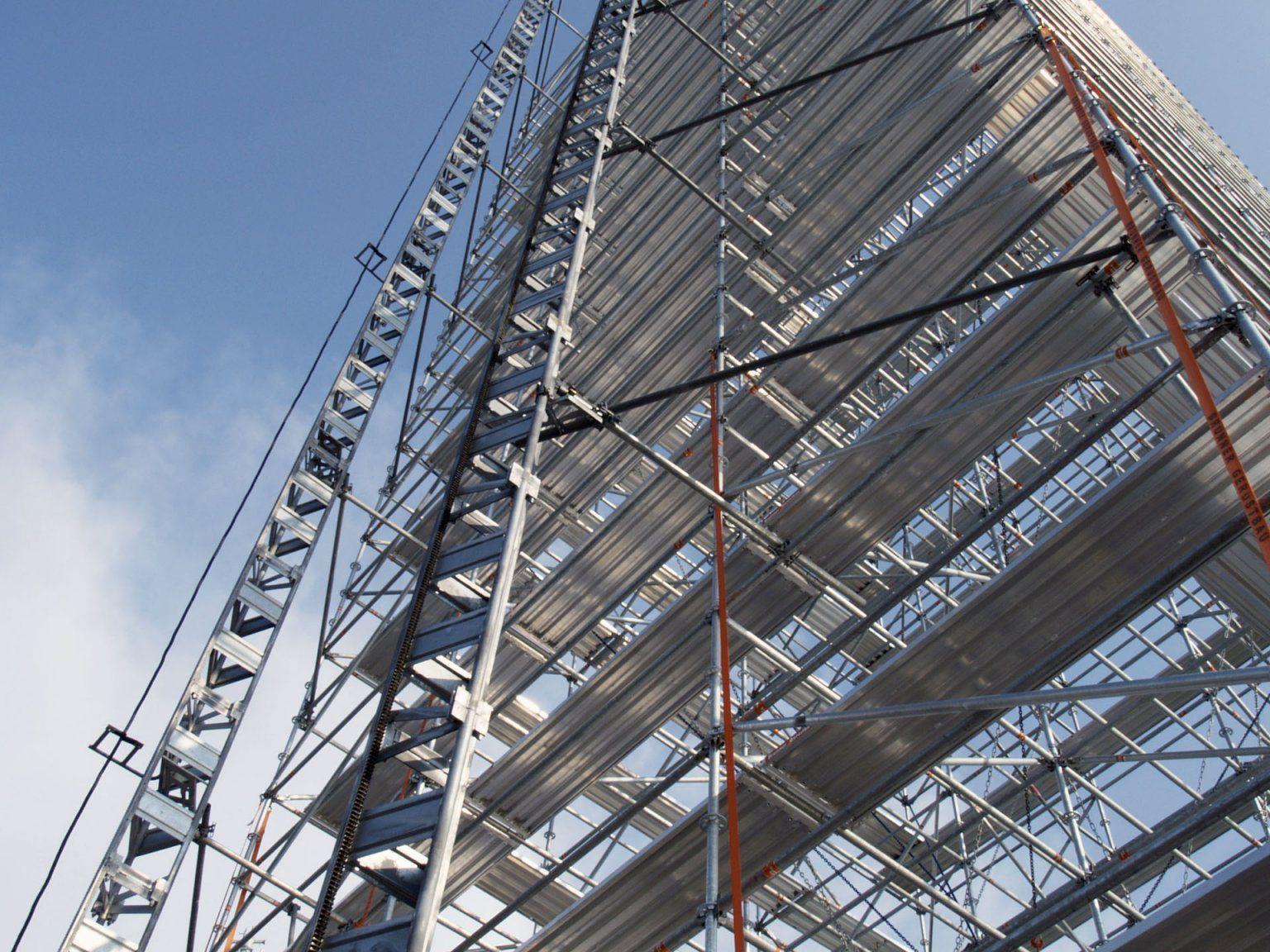 Attraktion beim Jubiläumsfest – ein 30 Meter hoher Aussichtsturm.