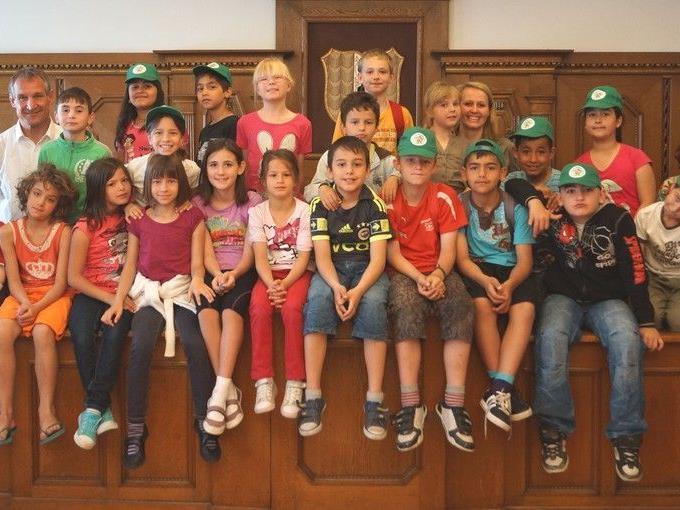 3c der VS Schendlingen besuchte das Rathaus