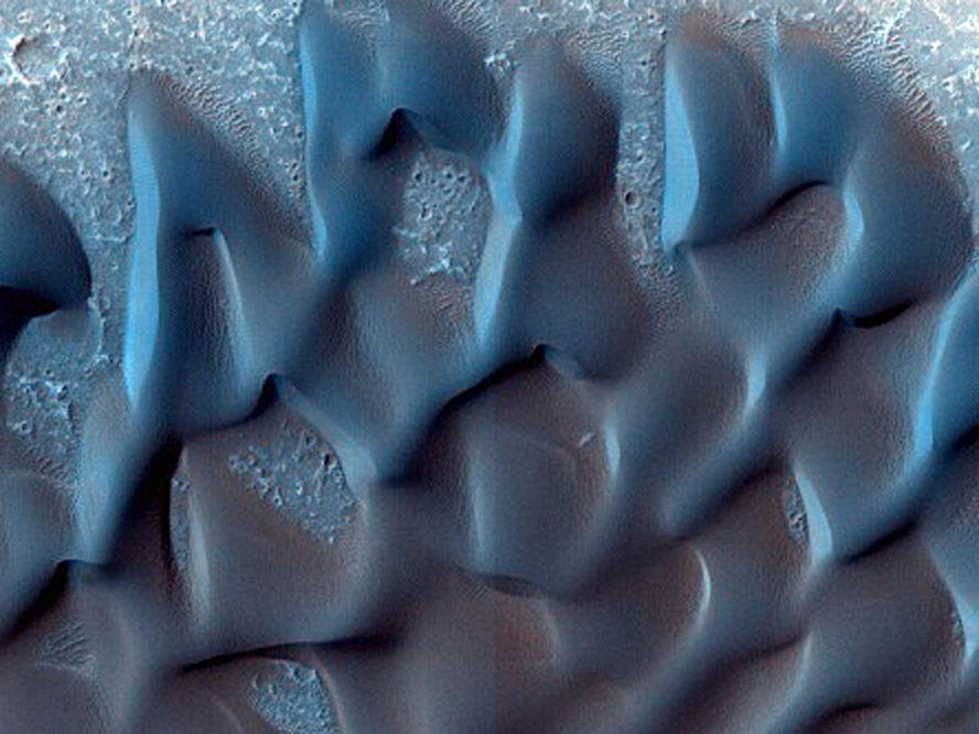 Auch auf dem Mars wandern die Dünen.
