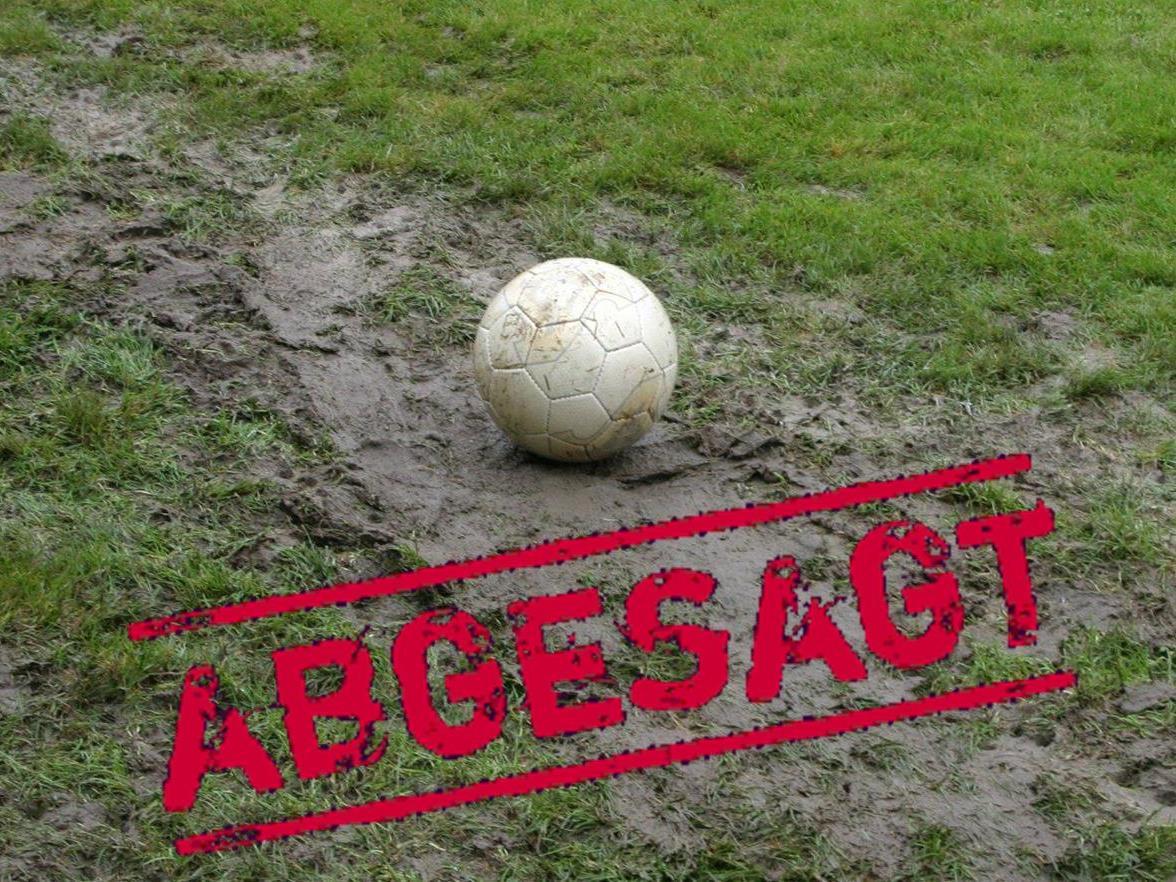 Das für Sa. 12.05.2102 geplante Ortsvereine-Fußball-Turnier muss aufgrund der starken Regenfälle abgesagt