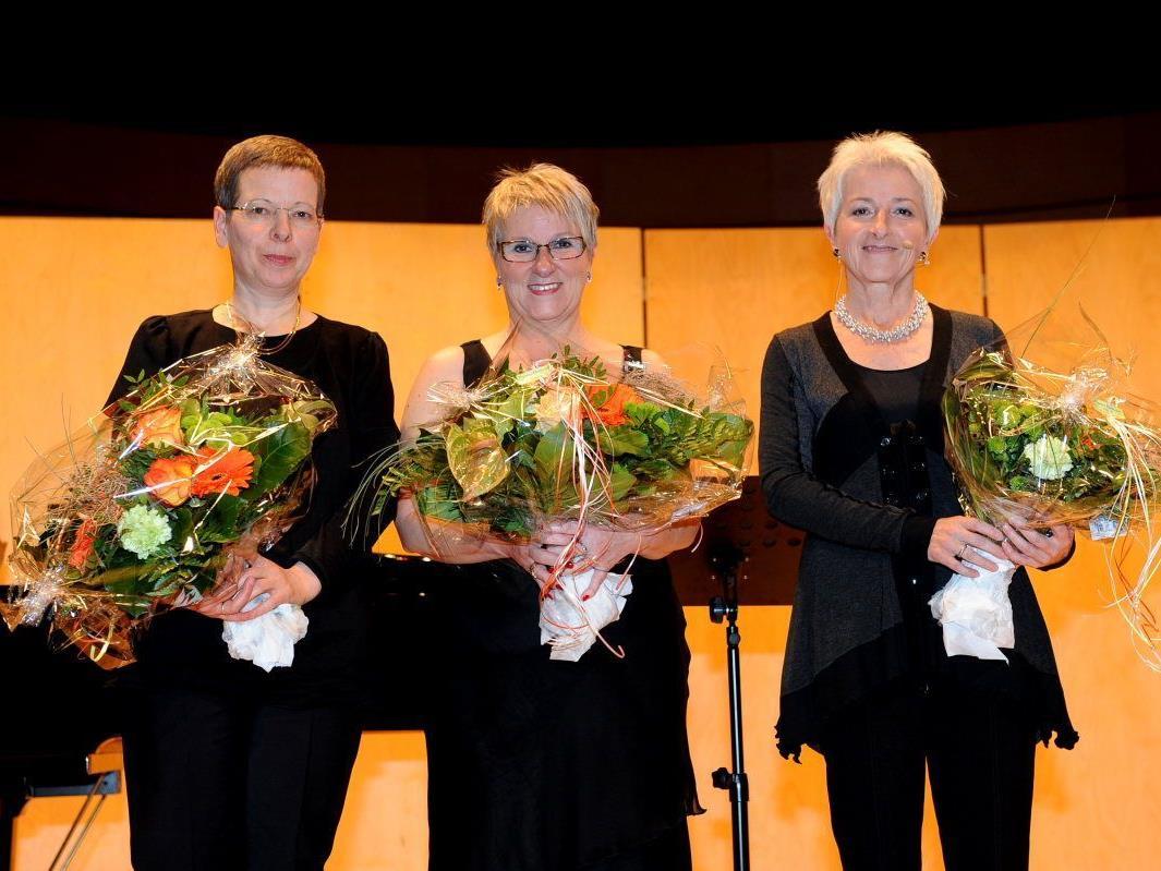 Dolores Reiner (Klavier), Sopranistin Aletha Prantl und Sprecherin Bernarda Gisinger freuten sich über den gelungenen Liederabend.