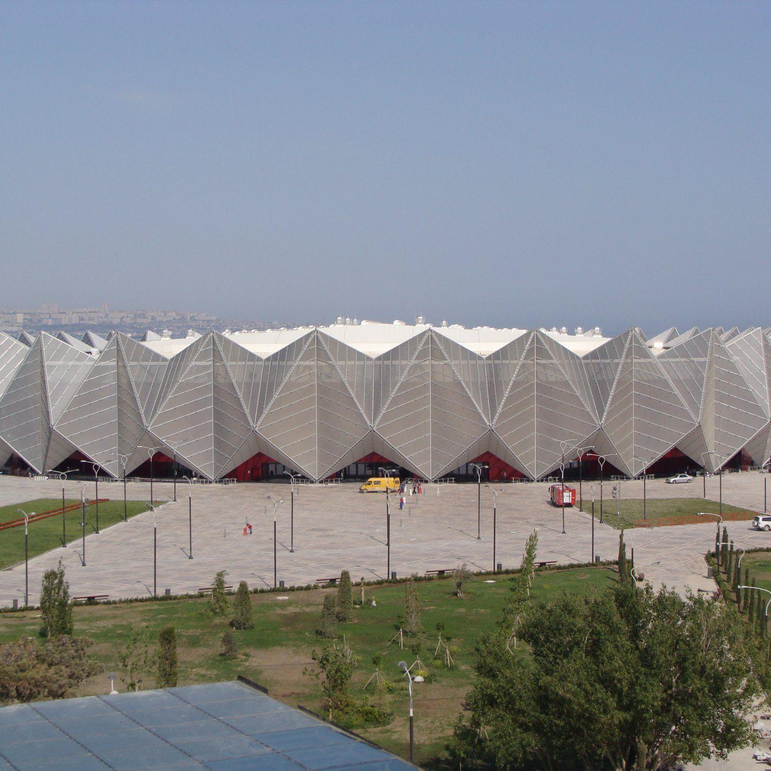 In der Baku Crystal Hall finder der Eurovision Song Contest statt.