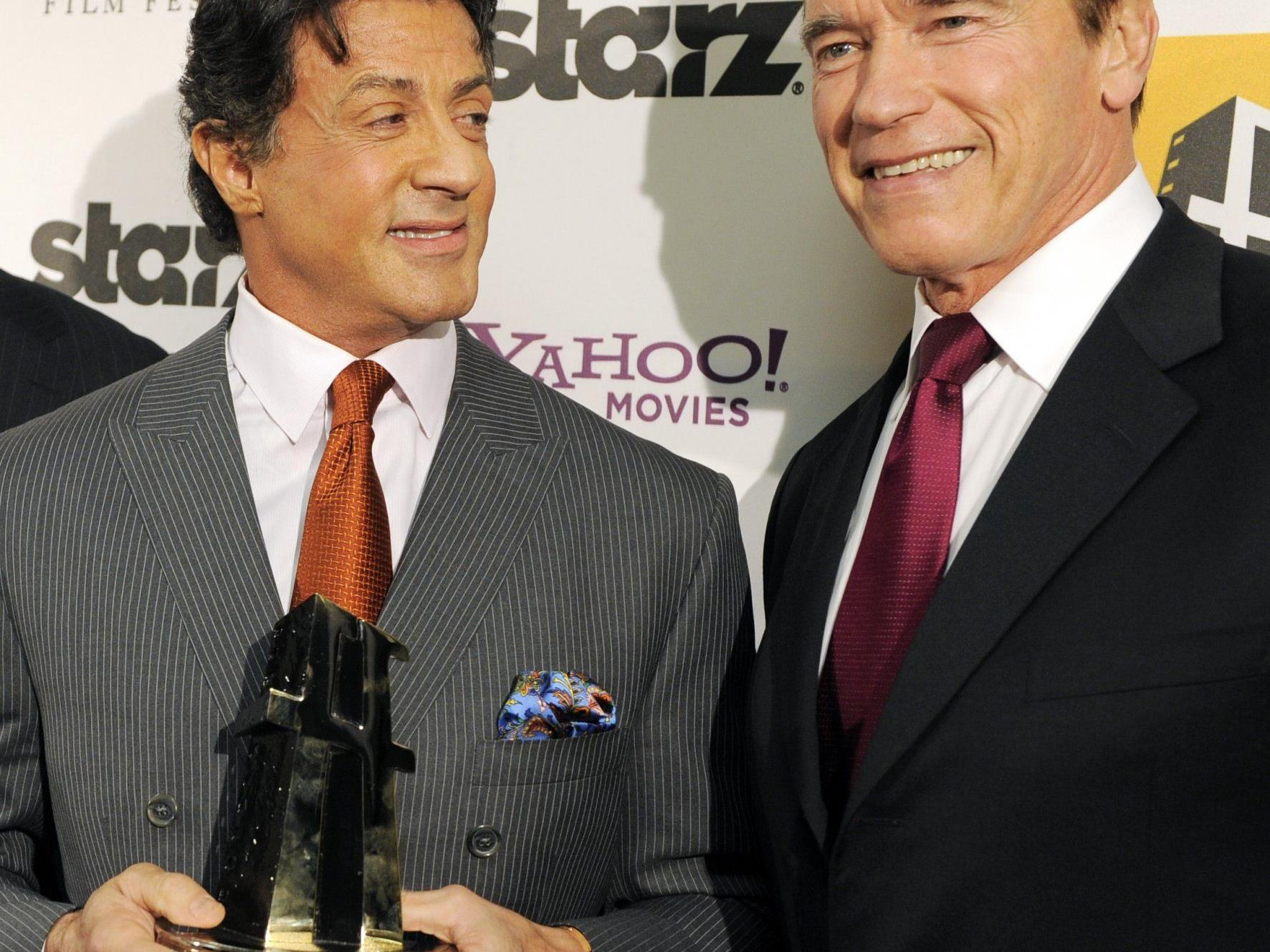 Schwarzenegger und Stallone - auch mit Mitte 60 zwei starke Typen