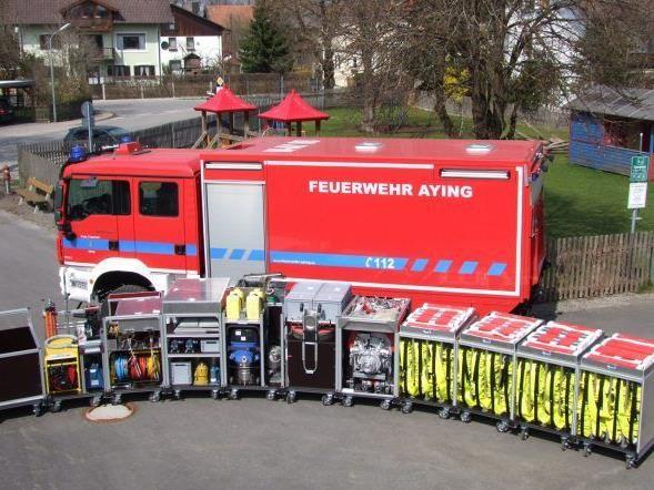 Das zukünftige Vandanser Fahrzeug wird ähnlich aufgebaut sein, wie das der Feuerwehr Aying (D).