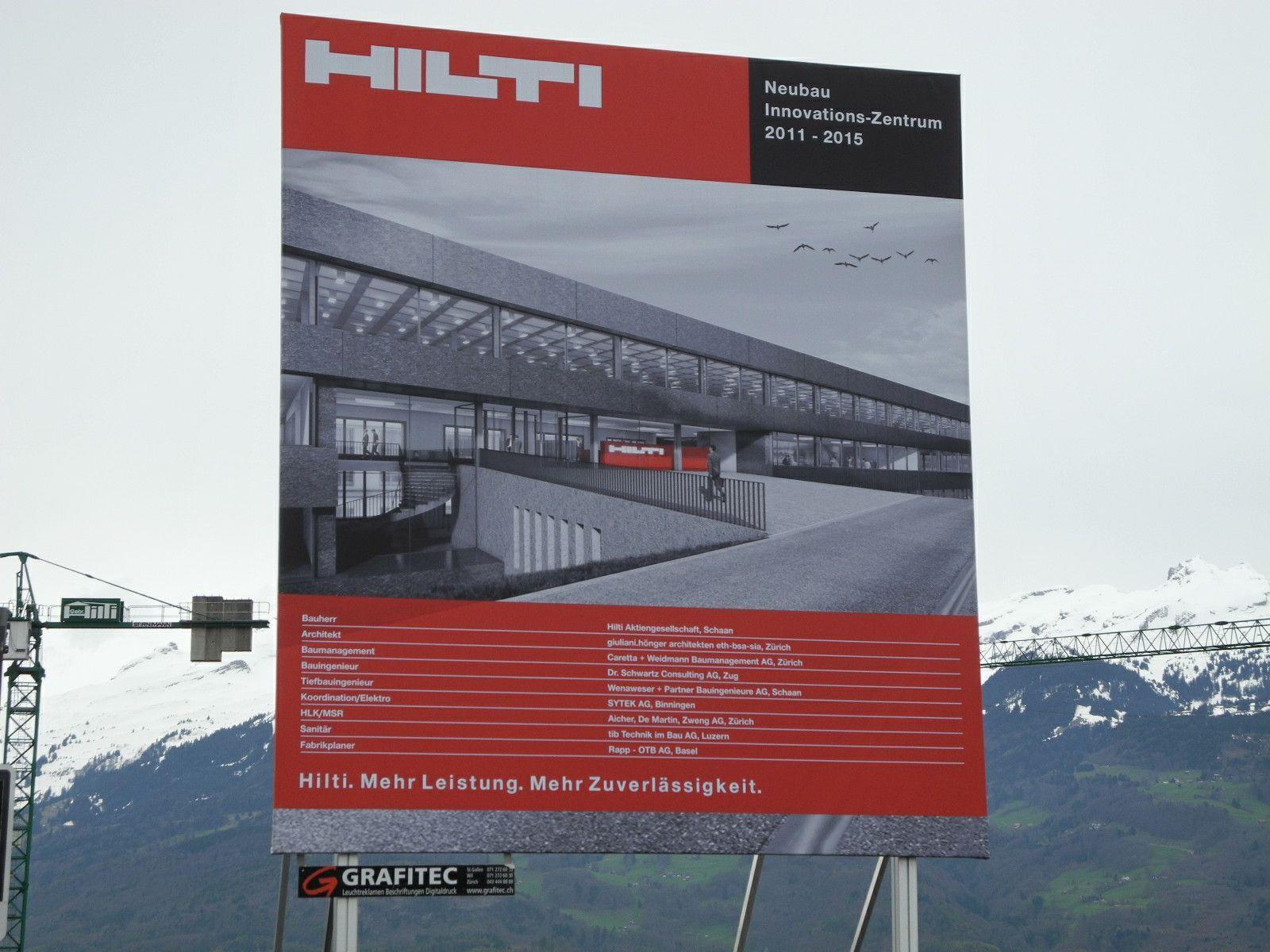 So soll das in Bau befindliche neue Hilti Innovationszentrum in Schaan aussehen